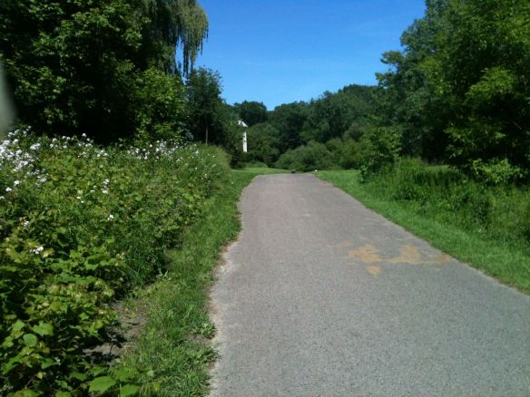 sunny bike path