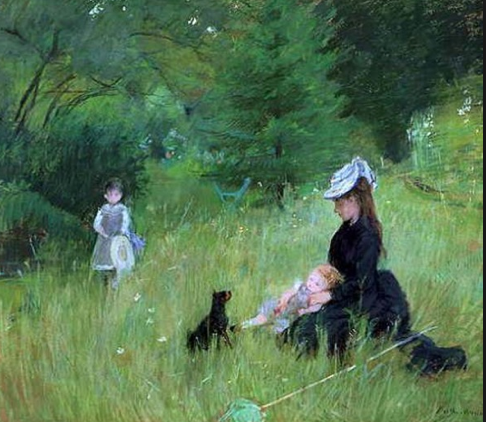 MOrisot on the lawn