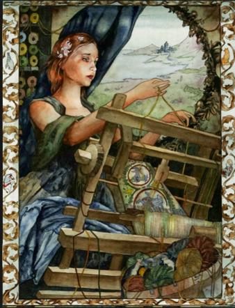 lady weaving