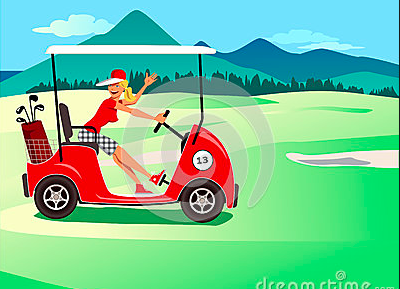 golf cart drawing