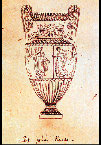 Keat's sketch of a Grecian Urn from Wikipedia