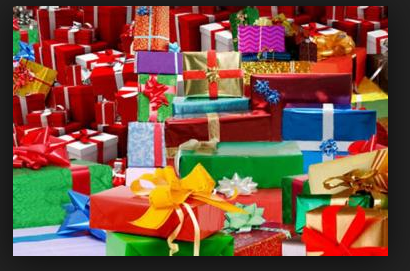 huge pile of gifts